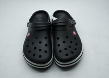 Load image into Gallery viewer, Crocs Black Full Stripe