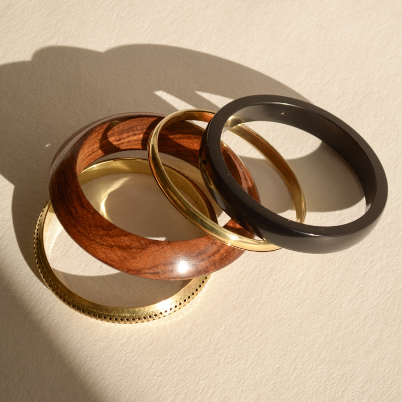 Wood Bangle Set