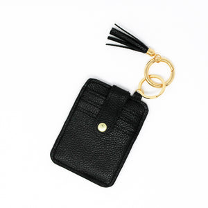 Black Wallet Keychain