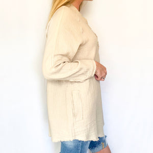 Gauze Button Down Tunic