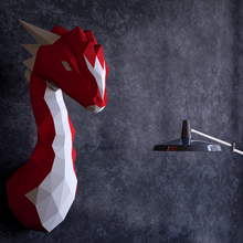 Lade das Bild in den Galerie-Viewer, Paper Model - Dinosaur(Red Only)