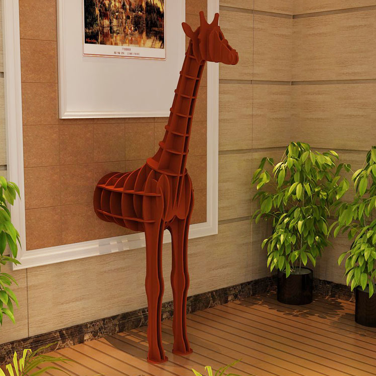 Inwall Giraffe Decoration Shelf