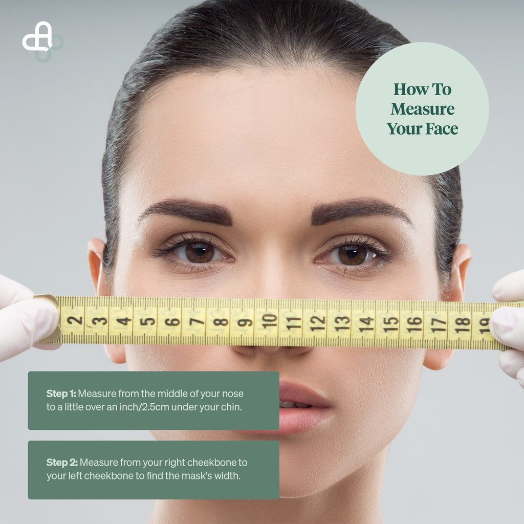 the 2 steps to measure your face for a face mask