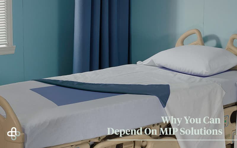 hospital bed with MIP products