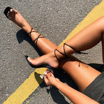 Load image into Gallery viewer, Open Toe Cross Strap High Hells - fashionenvy