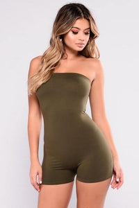Women's Sleeveless Summer Tube Top Romper - fashionenvy