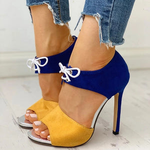 Summer Peep Toe Fashion High Heels
