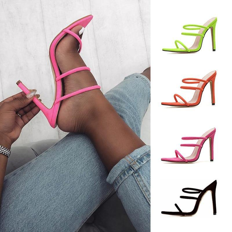 """Candy Bright"" Hollow High Heels - fashionenvy"