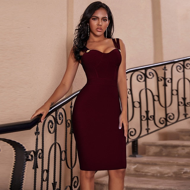 Spaghetti Strap Evening Party Dress