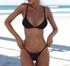 "Two-Piece ""Basic"" Bathing Suit - fashionenvy"