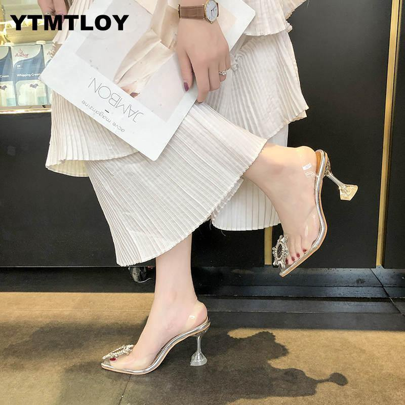 Pointed Toe Transparent High Heel - fashionenvy