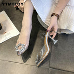 Load image into Gallery viewer, Pointed Toe Transparent High Heel - fashionenvy