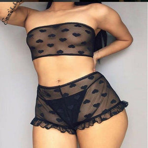 """Love is In The Air"" 2 Piece Lingerie Set - fashionenvy"