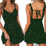 Load image into Gallery viewer, Women's Sexy Backless Polka Dot Dress - fashionenvy