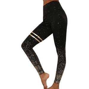 High Waist Printed Mesh Workout Leggings - fashionenvy