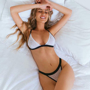 Lace Bra and G-string Women Lingerie - fashionenvy