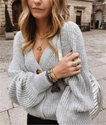 Load image into Gallery viewer, Button Down V-Neck Cardigan - fashionenvy