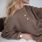 "Load image into Gallery viewer, The ""Nice And Warm"" Elegant Oversized Knitted Sweater - fashionenvy"
