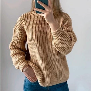 "The ""Nice And Warm"" Elegant Oversized Knitted Sweater - fashionenvy"