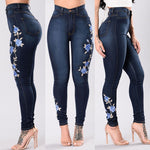 Load image into Gallery viewer, Printed High Waist Stretch Jeans