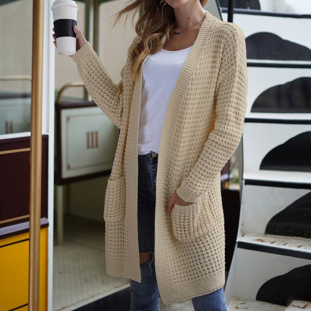 Loose Knitted Cardigan Sweater