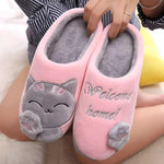 Load image into Gallery viewer, Furry Welcome Home Cartoon Cat Slippers - fashionenvy