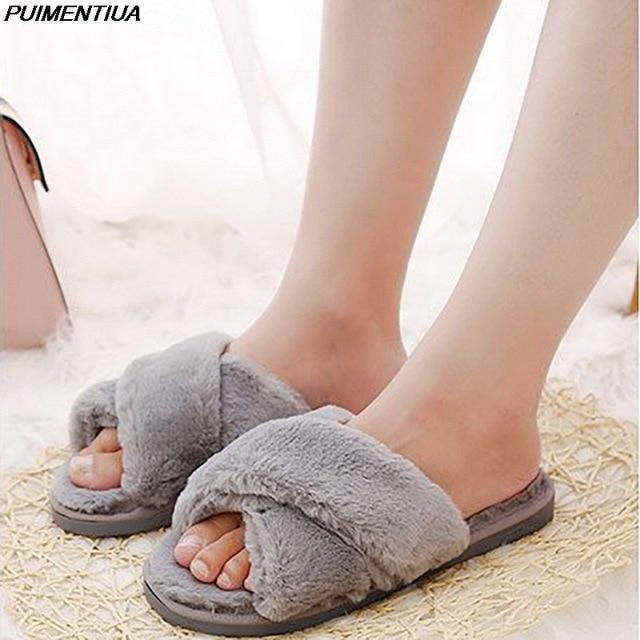 Furry Welcome Home Cartoon Cat Slippers - fashionenvy