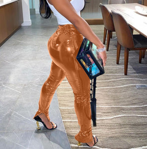 PU Leather Stretchy Pants