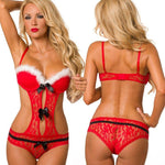 Load image into Gallery viewer, It's Gonna Be A Hot Christmas Lingerie Set - fashionenvy