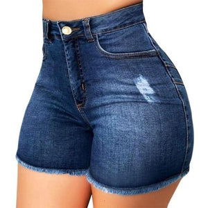Women's Summer High Waisted Denim Shorts - fashionenvy