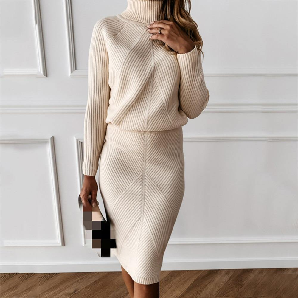 2 Piece Sweater Suit - fashionenvy