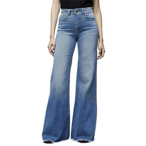 High Waist Vintage Wide Leg Jeans - fashionenvy