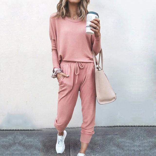 Women's Long Sleeve Casual Tracksuit - fashionenvy