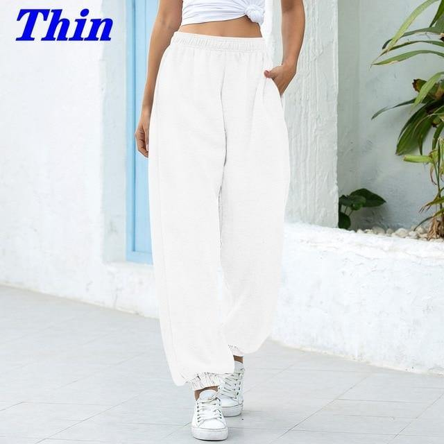 High Waisted Oversized Jogger Sweatpants - fashionenvy