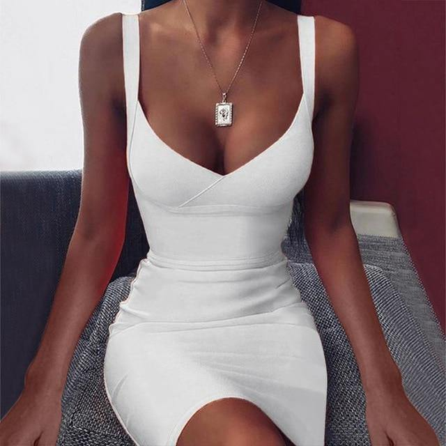 Women's Sexy Sleeveless Backless Party Dress - fashionenvy