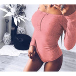 Load image into Gallery viewer, Women's Casual Long Sleeve Bodysuit - fashionenvy
