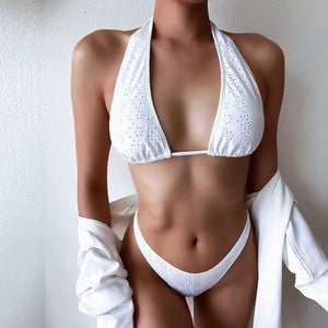 2 Piece Solid Bandage Bikini Set - fashionenvy