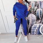 Load image into Gallery viewer, Women's Long Sleeve Printed Tracksuit - fashionenvy