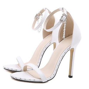 Fashion Ankle Charm Wedding Heels - fashionenvy