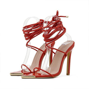 Summer Ankle Strap Party Heels - fashionenvy