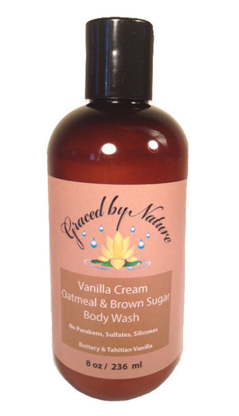 Vanilla Cream Oatmeal & Brown Sugar Body Wash (8oz)