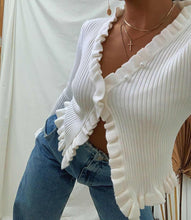 Load image into Gallery viewer, Bittersweet White Cardigan Top