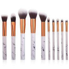 Load image into Gallery viewer, Marble Design Handle Makeup Brushes Set / 10pcs