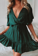 Load image into Gallery viewer, Keep Moving Jade Green Mini Dress