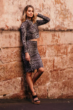 Load image into Gallery viewer, Snake Print set Top and skirt