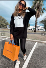 Load image into Gallery viewer, Coco Print Oversized Sweatshirt