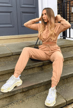 Load image into Gallery viewer, Sand Cropped Hoodie and Jogger - Lounge set