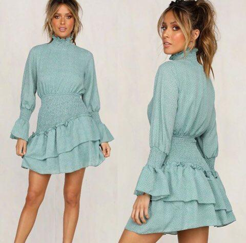 Feeling Blessed Ruffle Dress