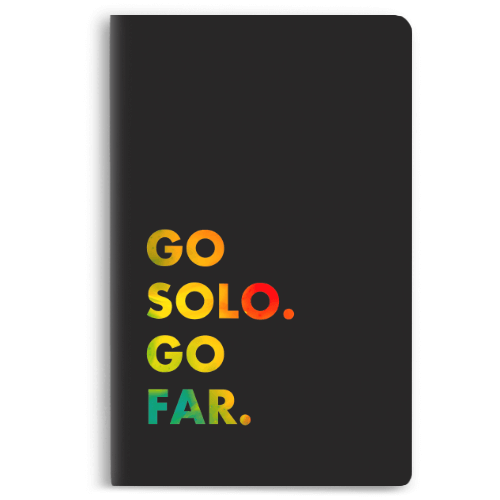 Go Solo Go Far Notebook - morecurry