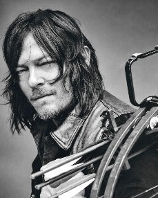 Black and white image of Norman Reedus